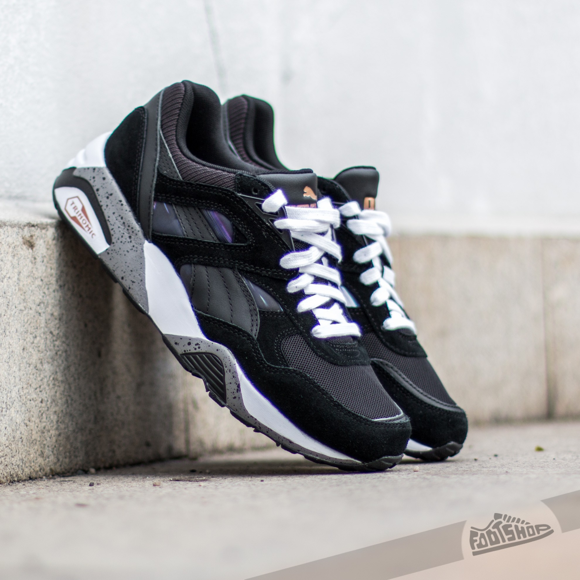 puma-r698 puma r698 fast graphic women black/ white/ coral- cloud- pink JUCGWSO