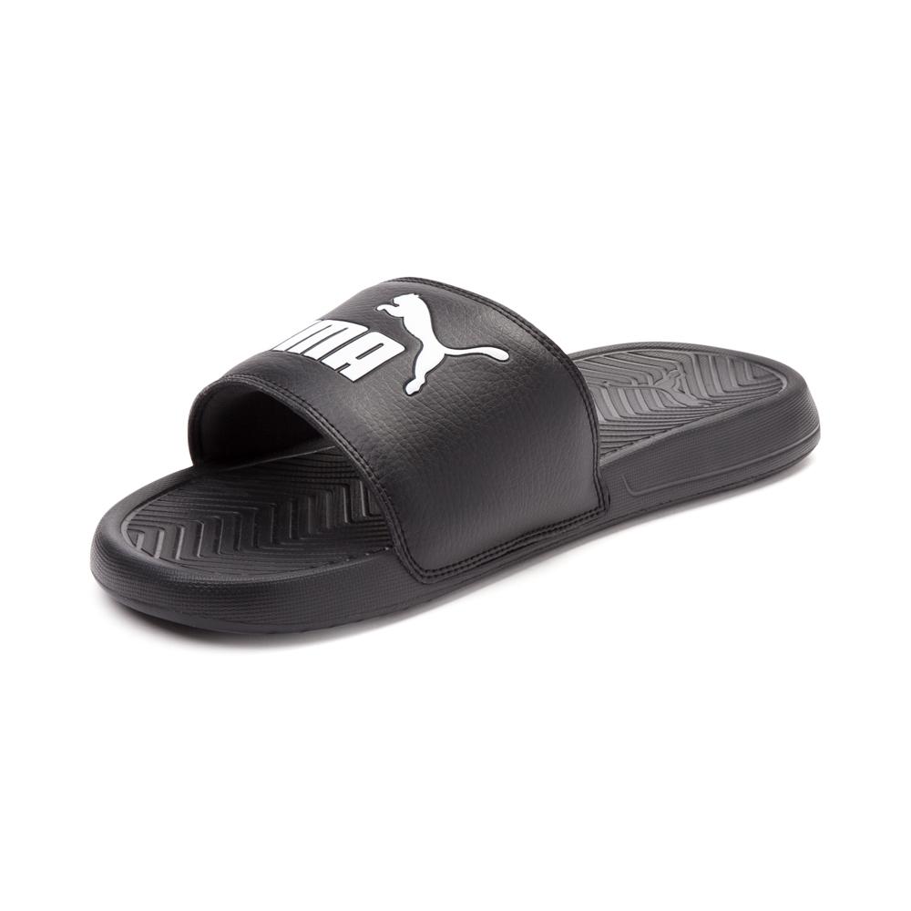 Puma sandals ... alternate view: puma popcat slide sandal - black/white - alt3 ... TKAPCPC