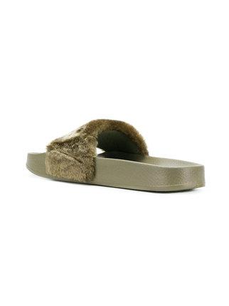Puma sandals ... fenty x puma faux-fur slide sandals FGOZUQZ