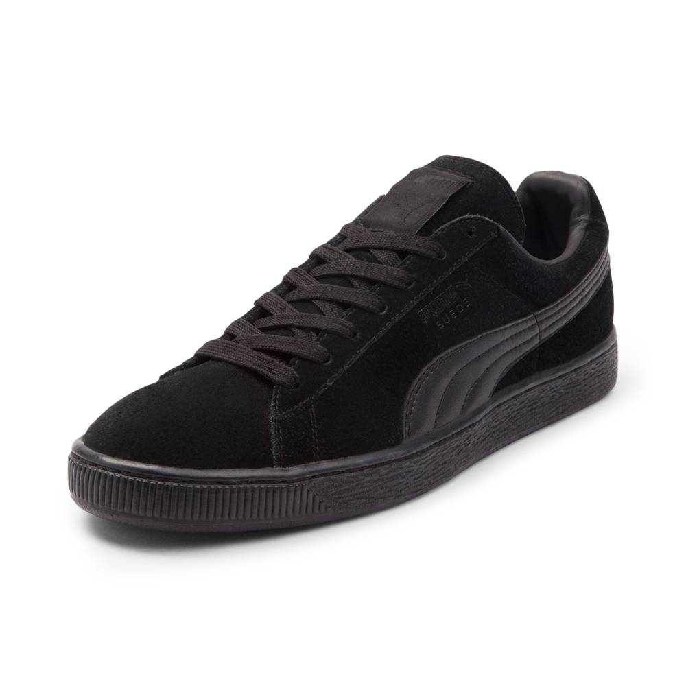 puma shoes for men alternate view: mens puma suede athletic shoe - black monochrome ... LCNZKVW