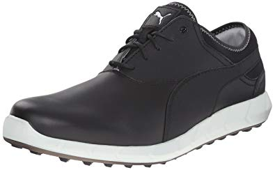 puma shoes for men puma menu0027s ignite spikeless golf shoe, black/glacier gray, ... SUBUYSW