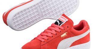 puma sneaker image 1 of suede classic womenu0027s sneakers, spiced coral-puma white, medium MHZQKQA