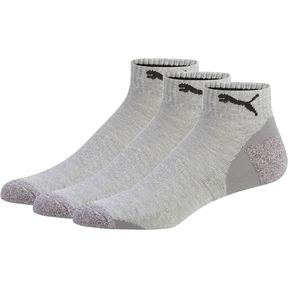 puma socks thumbnail 1 of impact menu0027s low-cut socks (3 pack), steel grey GTJJPHU