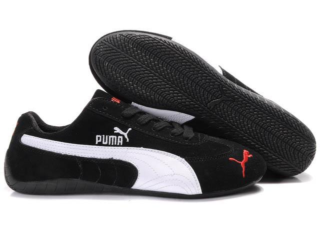 puma speed cat sd trainers black/white 01,puma speeder,puma clothing, UJZHZMO