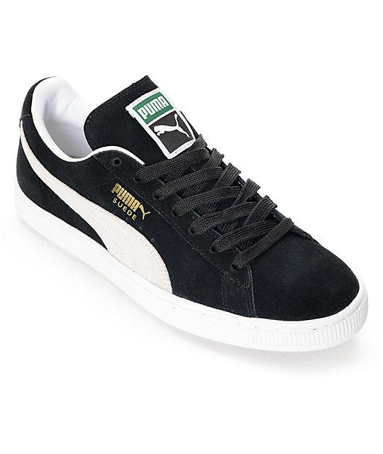 puma suede classic + black shoes ... BMZSPIX