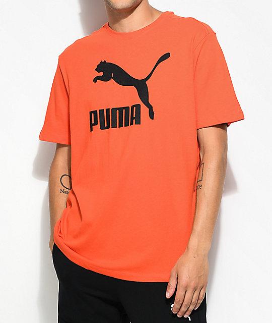 Puma t shirts puma archive life tomato t-shirt ... VRTFFMR
