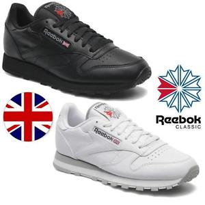 Reebok trainers image is loading reebok-classic-2-leather-trainers-black-white-classic- YQPYHUD