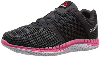 running shoes for women reebok womenu0027s zprint running shoe, black/gravel/solar pink/black  reflective/ FDCWNIY