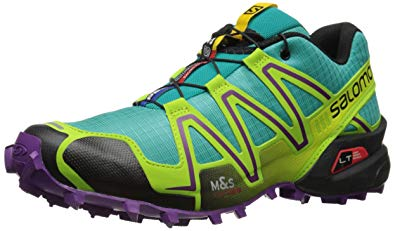 salomon running shoes salomon speedcross 3 running shoe - womenu0027s teal blue/granny green/passion  purple 5 VKPFBGP
