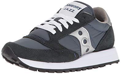 saucony originals womenu0027s jazz original classic retro sneaker,navy/silver,  ... WBIMRSK