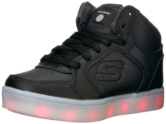 skechers kids boys energy lights sneaker, black, 12 m us little kid DVBNFHK
