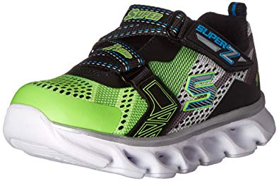 skechers kids boysu0027 hypno-flash light up loafer, lime/black, 5 LKHNQCA