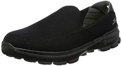 skechers walking shoes skechers performance menu0027s go walk 3 slip-on walking shoe, black, ... HFLXHYB