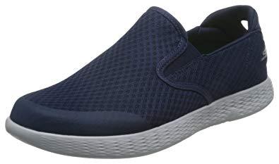 sketchers shoes skechers menu0027s on the go glide response slip-on sneaker,navy/gray, ZJDNVIE