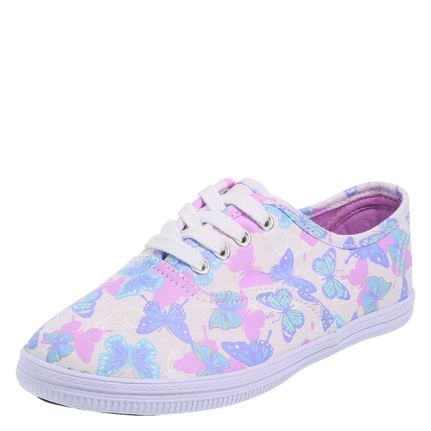 sneakers for girls girlsu0027 bal sneaker, lilac butterflies OMBZEJG