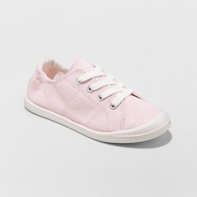 sneakers for girls girlsu0027 mad love shana scrunch canvas slip on sneakers JYKGONY