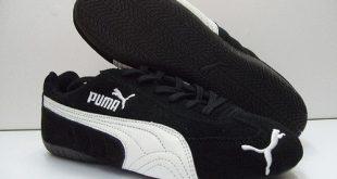 the puma speed cat in itu0027s most common color scheme, blacku0026white SCMSTAO