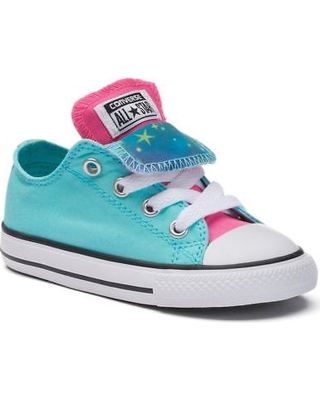 toddler converse chuck taylor all star double-tongue sneakers, kids unisex,  size: EEZHGBE
