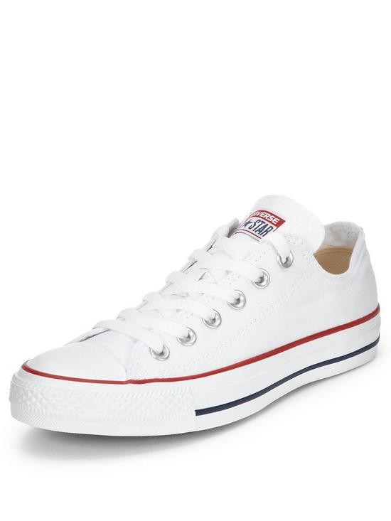 White converse converse chuck taylor all star ox plimsolls - white | very.co.uk EWJGDBU