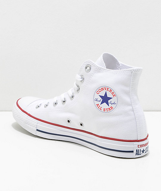 White converse ... converse chuck taylor all star white high top shoes ... QRDSIXT