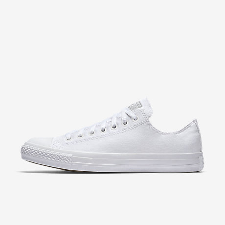White converse converse chuck taylor monochrome low top unisex shoe UGYTTPS
