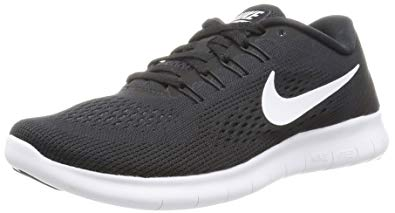 womens nike nike free rn black/anthracite/white womens running shoes KGHWPWB