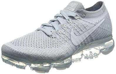 Womens Nike running shoes nike womenu0027s wmns air vapormax flyknit, pure platinum/white-wolf grey, 7.5 HHPHVBH