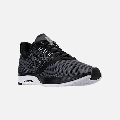 Womens Nike running shoes three quarter view of womenu0027s nike zoom strike running shoes in  black/white/dark TOQRPAC
