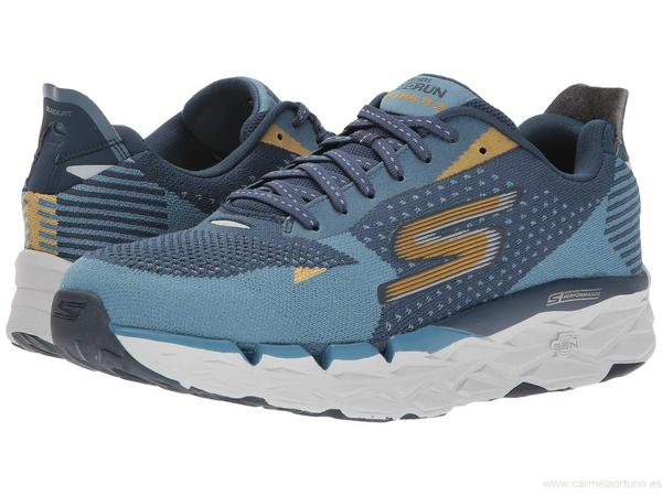 zapatos skechers hombre - skechers go run ultra road 2 negro blue / navy zapatos VTBKOUY
