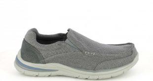 zapatos skechers zapatos sport skechers mocasines grises con elásticos - querol online ... HTQWMKT