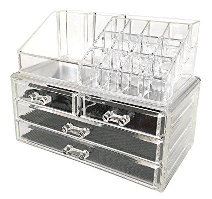 Amazon.com: Sodynee Jewelry and Cosmetic Storage 2 Piece Acrylic