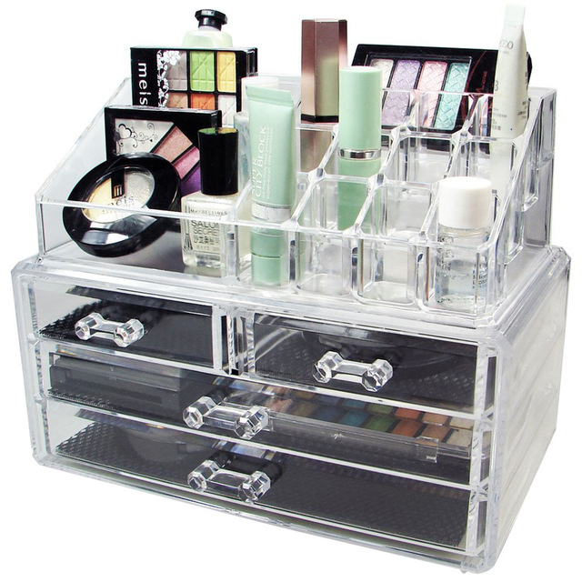New Acrylic Makeup Organizer Storage Box Case Cosmetic Jewelry 4