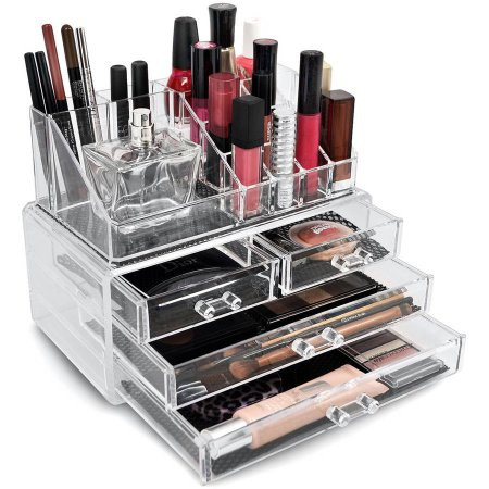 Sorbus Acrylic Cosmetics Makeup Organizer Case Storage Insert Holder