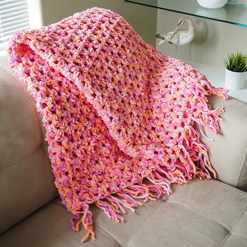 Quick n' Cozy Crochet Afghan | AllFreeCrochet.com