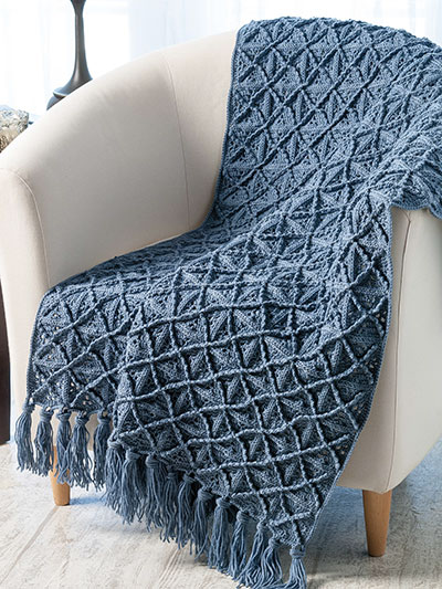 Crochet Afghan Patterns - Lattice Afghan Crochet Pattern