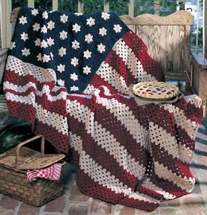 All American Crochet Afghan ePattern | LeisureArts.com
