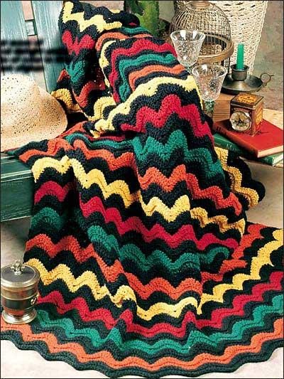 Bright Waves Crochet Afghan Pattern
