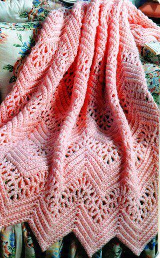 VICTORIAN LACE AFGHAN PATTERN u2026 | Crochet Afghans | Crochu2026