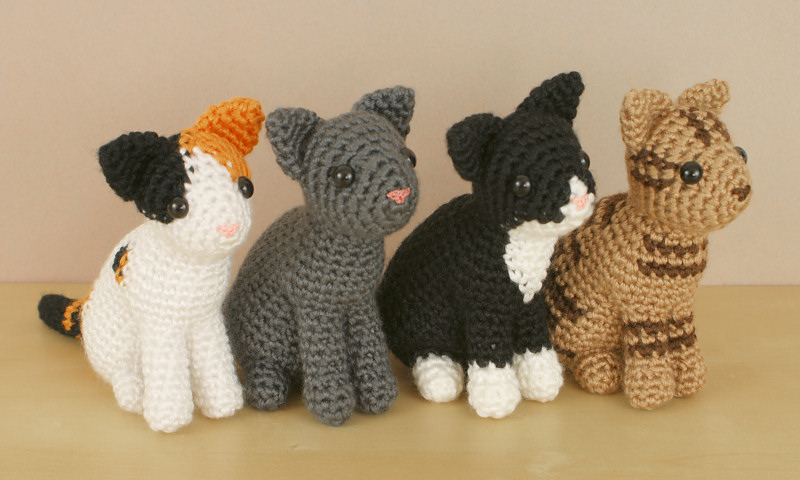 AmiCats Collection - FOUR amigurumi crochet patterns : PlanetJune