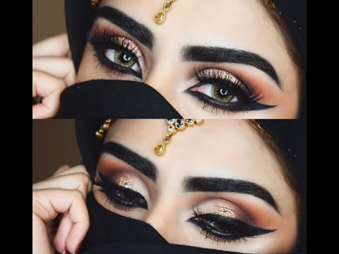 Arabic Inspired Makeup Tutorial | Rija Imran - YouTube