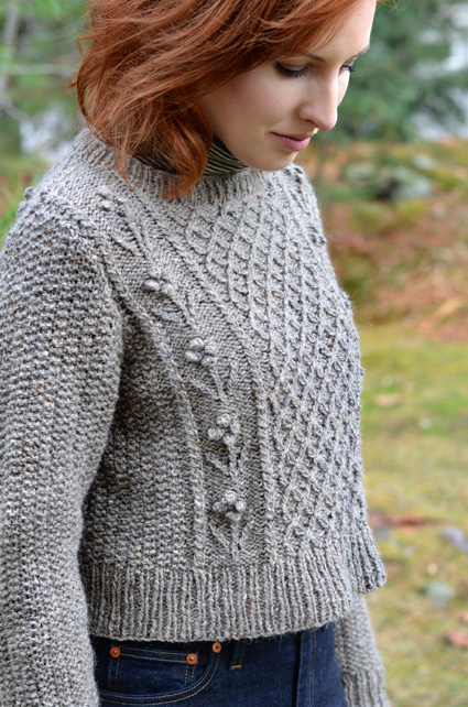 Helga Sweater Free Aran Knitting Pattern ⋆ Knitting Bee