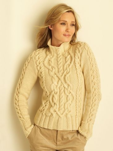 free aran sweater knitting patterns for women | Crochet / Knit
