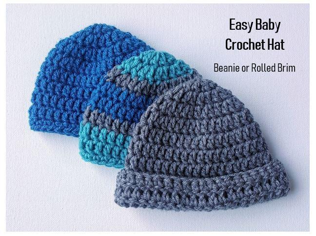 Easy Baby Crochet Hat Pattern for Beginners - JJCrochet