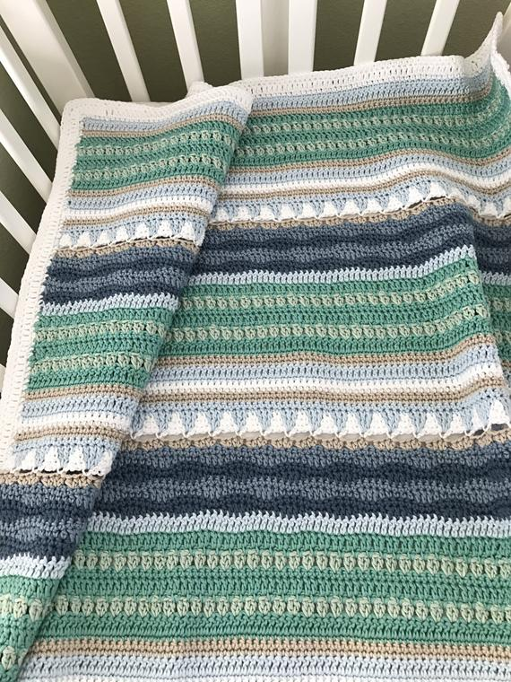 Crochet Baby Blanket Pattern Sailboats Baby Blanket Pattern | Etsy