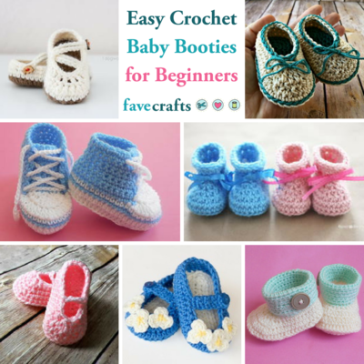15 Easy Crochet Baby Booties for Beginners | FaveCrafts.com