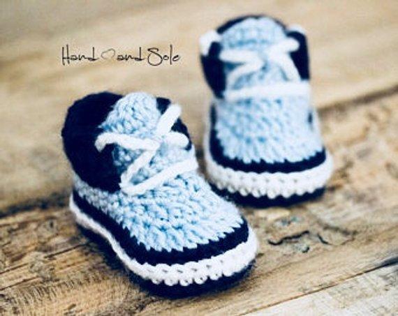 Crochet Pattern Baby Shoes Baby Boy Crochet Booties Pattern | Etsy