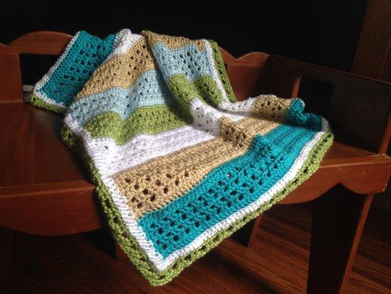 Crochet PATTERN baby blanket crochet pattern baby boy | Etsy