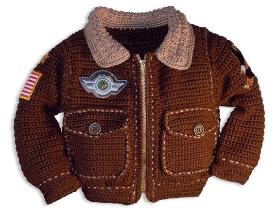 Baby Crochet Patterns Bomber Jacket Crochet Pattern Baby Boy | Etsy