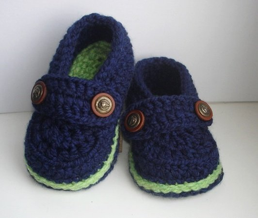 Easy Crochet Pattern Baby Loafers, Baby Booties, Crochet Booty for