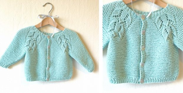 Liliana Knitted Lace Baby Cardigan [FREE Knitting Pattern]